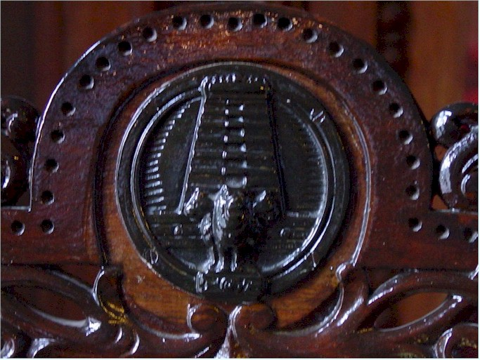 Raj Bhavan Udhagamandalam Engraving in the furniture