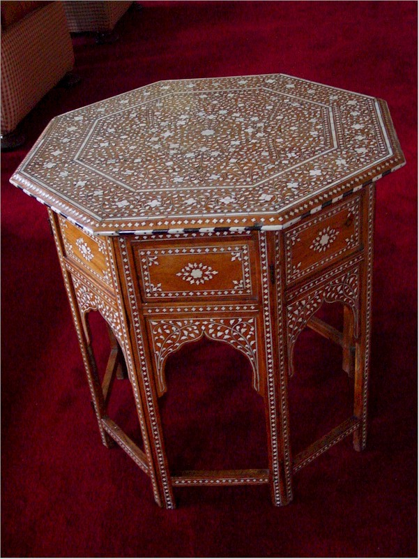 Raj Bhavan Udhagamandalam Antique furniture with Ivory work